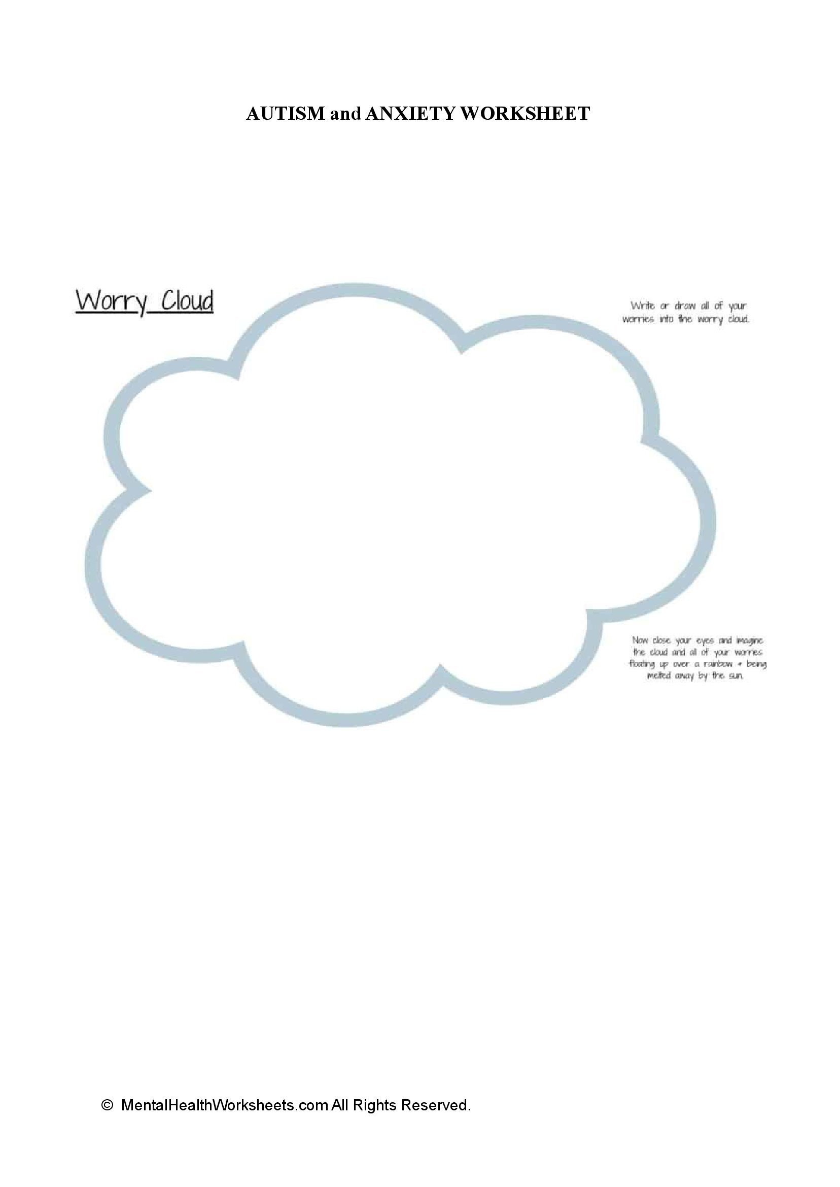 AUTISM and ANXIETY WORKSHEET:Version 2